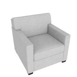Vesper Armchair, Soft Weave Fabric, Smoke