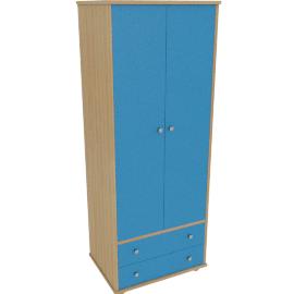 Corey 2 Door Wardrobe, Blue