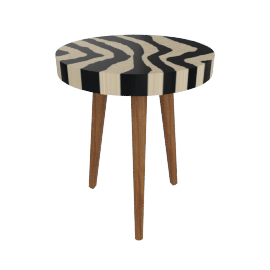 Zebra End Table