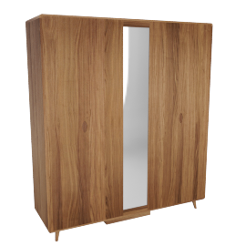 Laurel 5 Door Wardrobe - Walnut