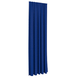 Solid Dyed Curtain 140X300Cms (Adjustable Length), Dark Blue