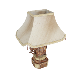 Elephant Table Lamp and Shade