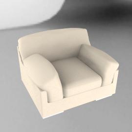Calanda Leather Chair, Cream