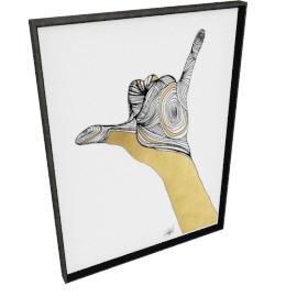Sign Language V by KelliEllis - 30''x40'', Black