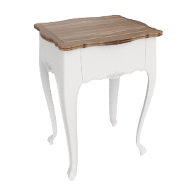 Bourbon Side Table, Antique White