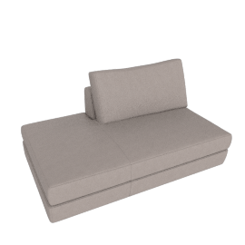 Reid Side Chaise Left, Kalahari Leather Grey