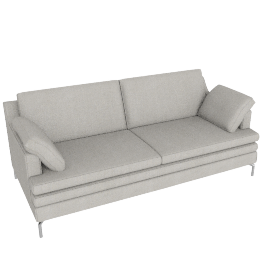 Turin Large Sofa, Newlyn Charcoal