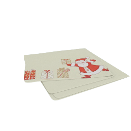 Santa Napkin, Red / Multi