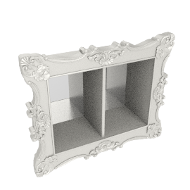 Royal wall shelf, Pearl white