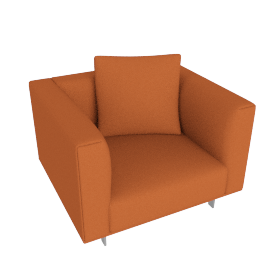 Bilsby Armchair, Cotton Twill, Autumn