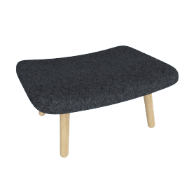 About A Lounge 03 Ottoman, Divina Melange 170 Dark Grey / Oak