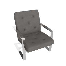 T-Back Lounge Chair - Grey