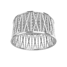 Emilia Crystal Drum Flush Ceiling Light