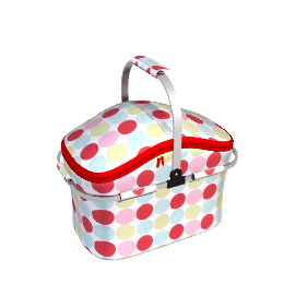 Picnic Cooler Set, 4 Person, Bright Dot