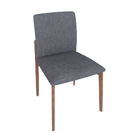 Contour Chair, Pebbe Weave Pumice with Walnut Leg