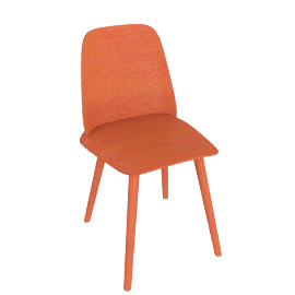 Nerd Chair , Red Orange