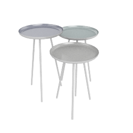 Round Side Tables, set of 3