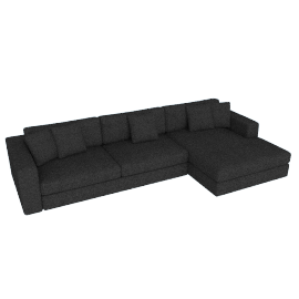 Reid Sectional Chaise in Fabric, Right