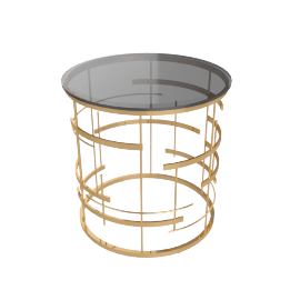 Annastasia End Table, Gold