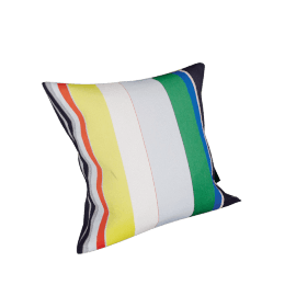 Maharam Pillow in Bold Sequential Stripes 17'' x 17''