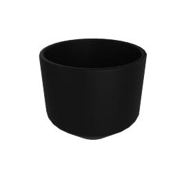 Monstruosus Planter, Model 3 Small, Black