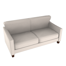 Ophelia Medium Leather Sofa, Pearl