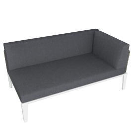 Evening Breeze Left Lounge Chaise , Grey/White