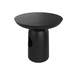 Hew Side Table, Shape E, Black Painted Ash