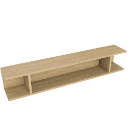Match 120cm Floating Shelf Unit, Oak