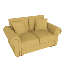 Romsey Medium Sofa, Gold