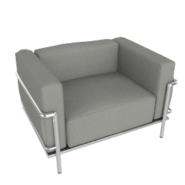 Outdoor LC3 Grand Modele Armchair - Sling Fabric - Grey