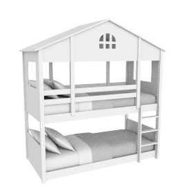 Harpers House Bunk Bed 90X200 Cms
