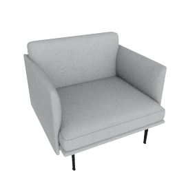 Outline Armchair, Soft Weave Smoke