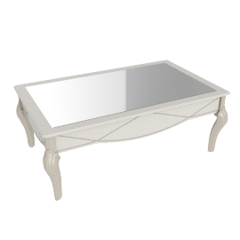 Sicilia Coffee Table, Pearl Wht/Champagne