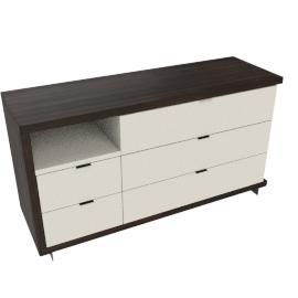 Renato 5 Drwr Dresser-Hg Grey/Wlnt