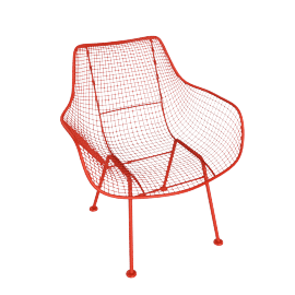 Sculptura Occasional Chair, Red Orange