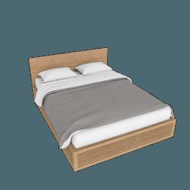 Line Storage Queen Bed, Oak