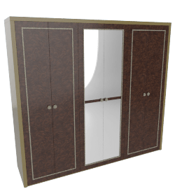 Modena 6-Door Wardrobe with Mirror