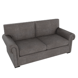 Romsey Large Sofa, Pendle Woven Chenille Charcoal