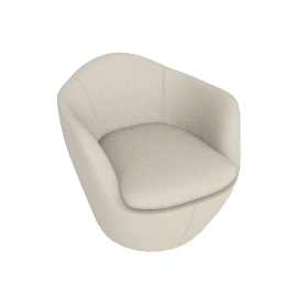 Lina Swivel Chair, Kalahari leather - Gesso