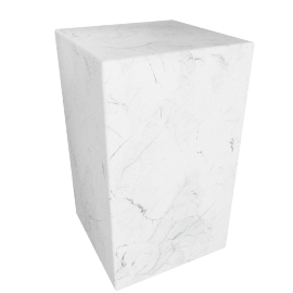 Plinth Tall Side Table, Carrara