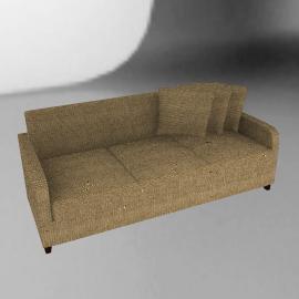 Mezzo Large Sofa, Khaki