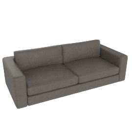 "Reid 86"" Sofa in leather, slate"