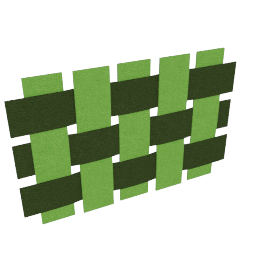 Squares panel by A2, green