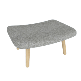 About A Lounge 03 Ottoman, Divina Melange 120 Light Grey / Oak