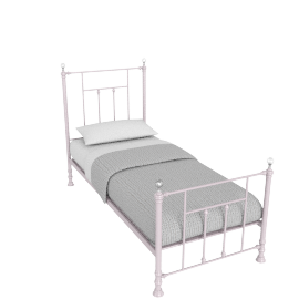 Alice 90x200 Metal Bed, Pink