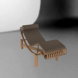 Tokyo Outdoor Chaise Lounge - Teak - Sand