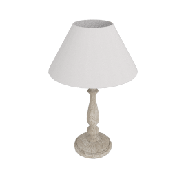 Rupert Rubbed Wood Table Lamp, Sand