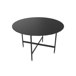 Sommer Round Dining Table, Black