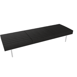 Museum Tuxedo Bench, MCL Leather, Black